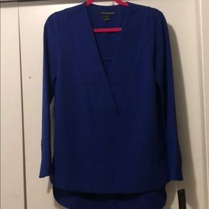 French Connection Long Sleeve Blue Top
